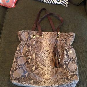 Cynthia Rowley snake print shoulder bag